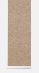 CORAL Wallpaper- tapeta Dusty Rose/Beige