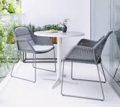 Krzesło plecione outdoor BREEZE marki Cane-line Light grey z poduszkami Light grey