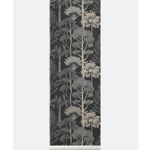 TREES Wallpaper- tapeta Grey/Petrol
